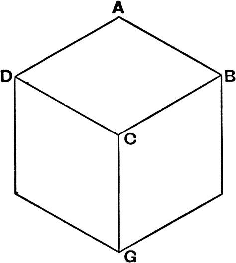 axonometric projection of a cube clipart etc