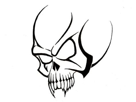 simple skull tattoos 25 cool tribal skull tattoos only tribal