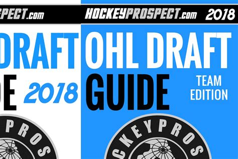 2018 Nhl Draft 2018 Ohl Draft Guides Now Available Hockeyprospect
