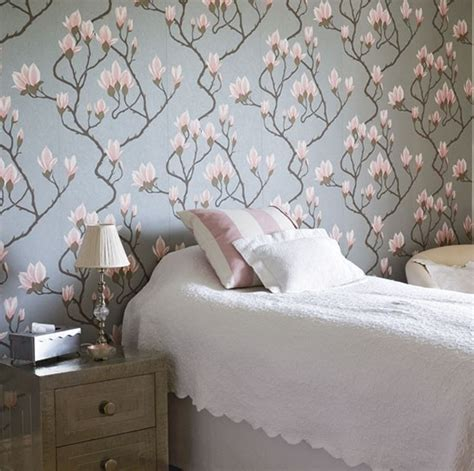 grey wallpaper bedroom ideas 20 floral bedroom ideas with wallpaper theme home design