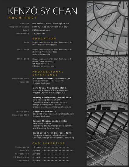 Resume Sample Computer Science by Professional Architect Resume Templates By Canva