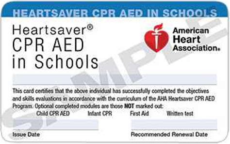 heartsaver cpr aed card template school cpr packages affinity institute