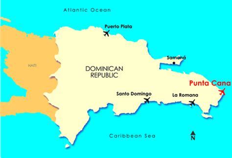 map of punta cana punta cana map
