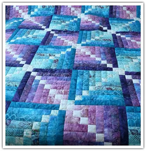 Blue And Purple Quilt by 728 Best Images About Quilts Log Cabin Variations On