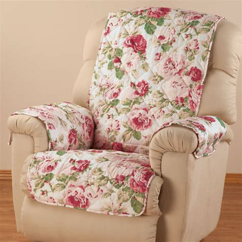 floral recliner english floral microfiber recliner cover chair cover