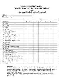 Behaviour Checklist Template by A Checklist To Observe Behavior Ehow Developmental