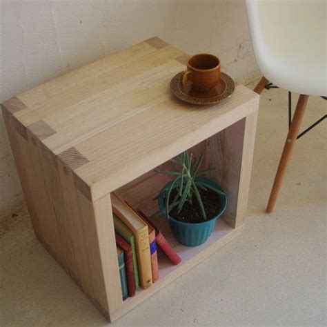 coffee table with storage cubes wooden side or coffee table storage cube handmade from recycled timber via etsy products i