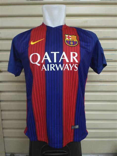 Baju Bola Qatar jersey bola barcelona home 2016 2017 jersey bola grade