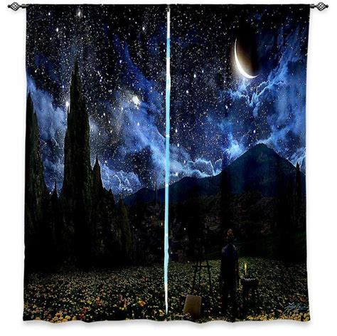 starry night curtains window curtains unlined alex ruiz starry night