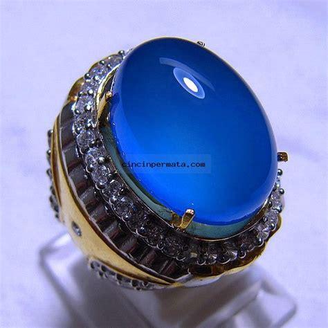 Biru Langit Asli Galian Baturaja batu permata biru langit spirtus baturaja cincinpermata