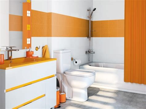 bano leroy merlin azulejos naranjas