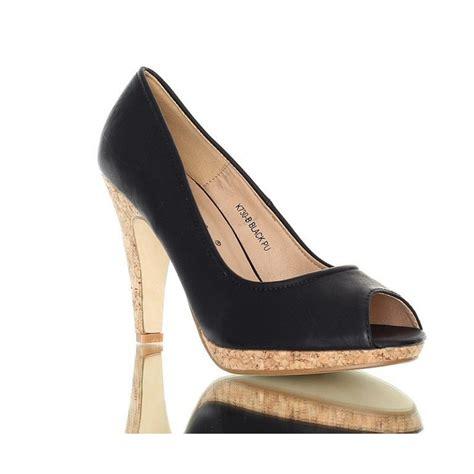cork high heels daily high heels with cork heel black color ekstra szpilki
