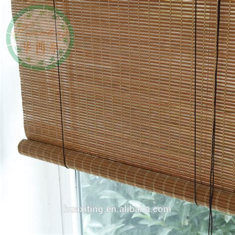 Shop Style Selections Cocoa Light Filtering Bamboo Roll Up Bamboo Shades Patio