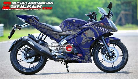 decal sticker yamaha r15 v2 punisher biru nusakambangan