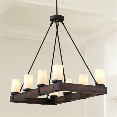 Rectangular Wood Chandelier Arturo 8 Light Rectangular Chandelier Ballard Designs
