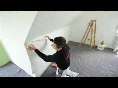 Styropor Leiste Wand by Rasch Tapeten Wie Tapeziere Ich An Einem Kniestock