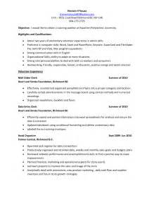Nursing Unit Clerk Sle Resume by Unit Clerk Resume Format 6 Resume Sle For Unit Clerk Accounting Clerk Resume