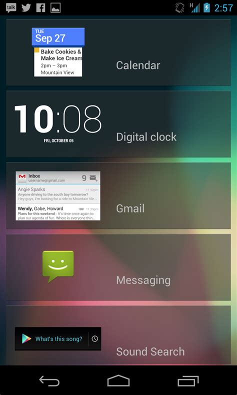 android lock screen widgets on users lock screen widgets out android 4 2 ars technica