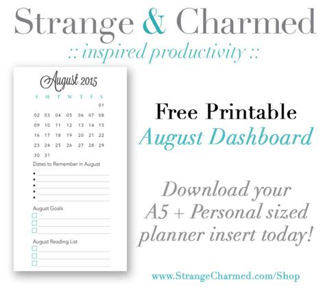 printable planner dashboard filofax archives strange charmedstrange charmed