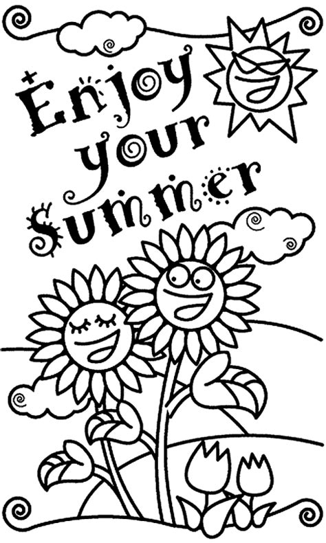 best summer sheets best free summer coloring pages summer free and free