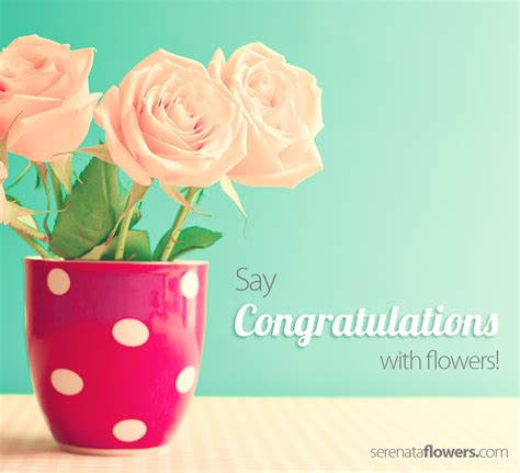 Congratulations Flowers by Say Congratulations With Flowers