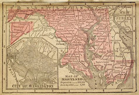 md county map historical city county and state maps of maryland