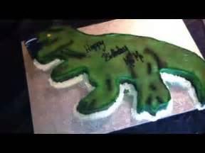 t rex dinosaur cake youtube