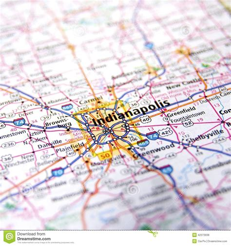 road map of indiana usa indiana highway map up stock photo image 42373938