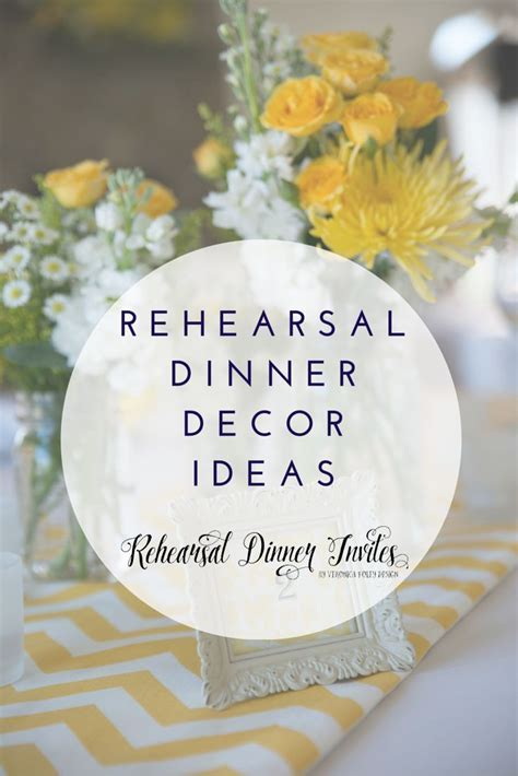 Rehearsal Dinner Decor Ideas including interview with