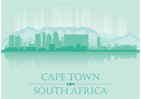 pattern paper cape town cape town skyline vector download free vector art stock