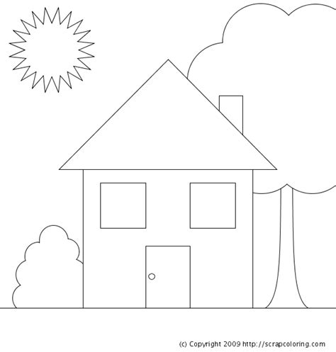 house shape coloring pages best photos of simple house coloring pages house shape