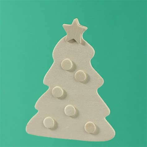 unfinished wood 3d christmas tree cutout winter holiday