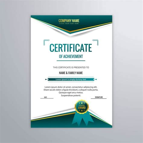 modern certificate templates certificate template in modern style vector free