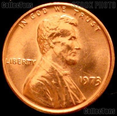 1973 lincoln memorial cent gem bu red penny $0.59