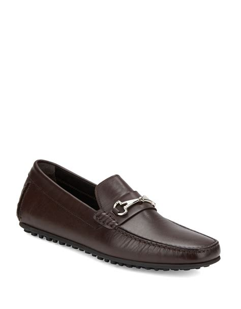 bruno magli mens loafers bruno magli leonzio loafers in brown for lyst