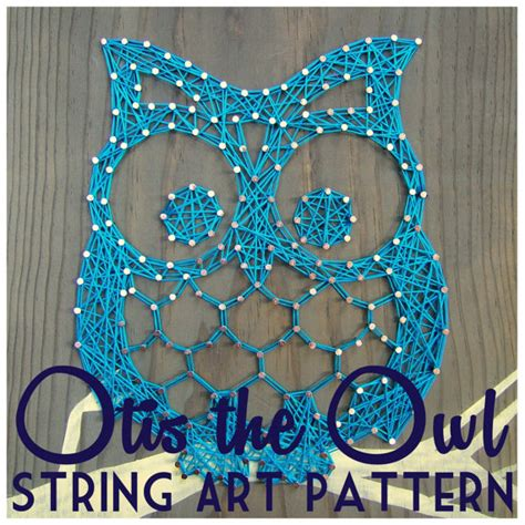 Owl String Template - 20 creative diy string project ideas how to make