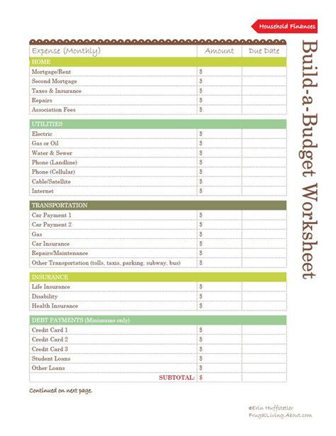 A Budget Worksheet by Buget Worksheet Lesupercoin Printables Worksheets