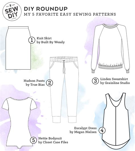 patterns sewing easy my 5 favorite easy sewing patterns sew diy
