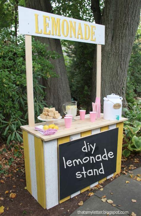 diy lemonade stand that s my letter diy lemonade stand