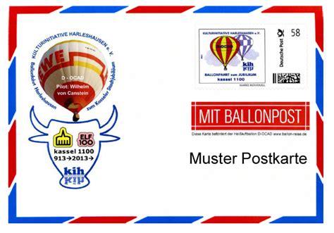 Frankierte Postkarten Drucken by Kulturinitiative Harleshausen E V Kih