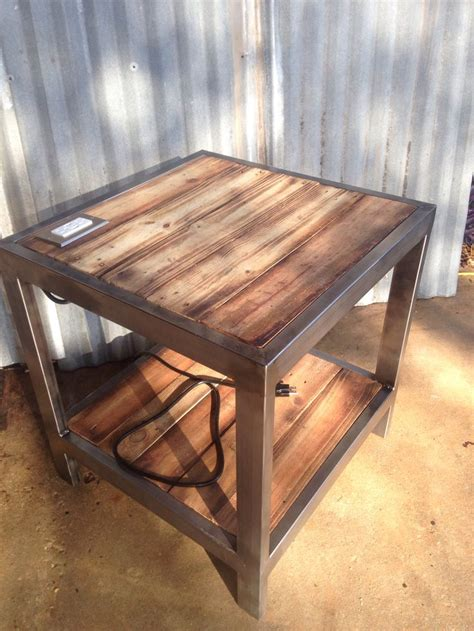 side tables with plugs end table with built in plug w usb ports welding