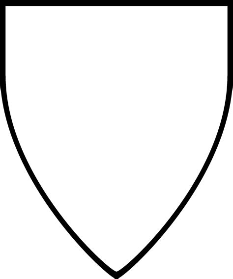 blank shield template printable shield drawing template at getdrawings free for