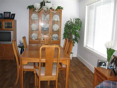 Oak Dining Room Sets With China Cabinet Dining Rm Suite Skylar Peppler Oak China Cabinet Table 6