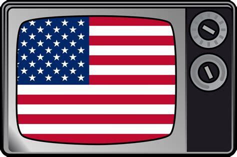 On Television file usa flag on television svg wikimedia commons