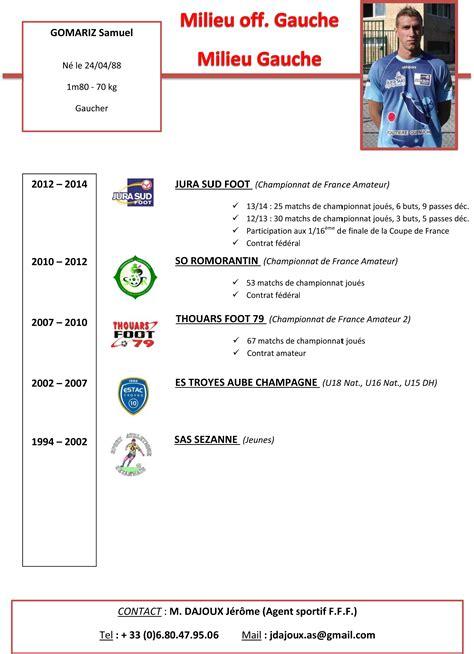 Cv Sportif Football Modele
