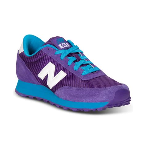 purple new balance sneakers new balance 501 running sneakers in purple purple blue