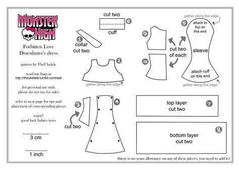 pattern parts net review monster high fl draculaura dress pattern part 1 by