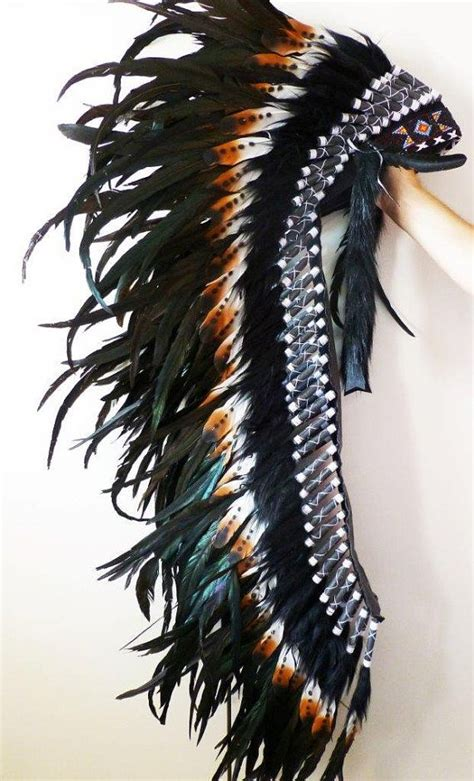 extra large feather extra large indian feather headdress brown by