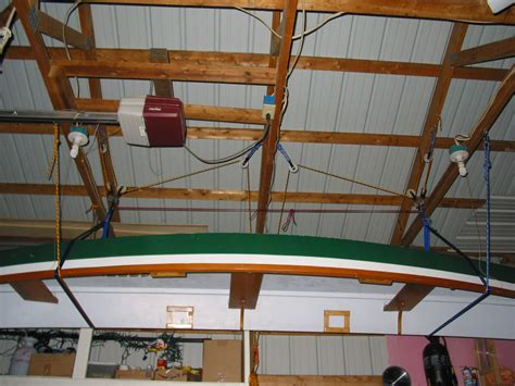 Garage Hoist System Dave S Notes And Ideas Boat Pulley Hoist System In Garage