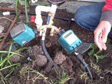 Faucet Dripping How To Install A Drip Irrigation And Water Timer Using A
